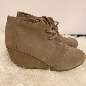 TOMS lace up wedges